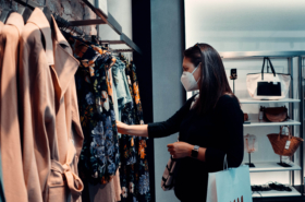 Shopping in a retail store under covid 19 with omnichannel marketing