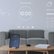 A mobile device control smart home devices through IoT and AI